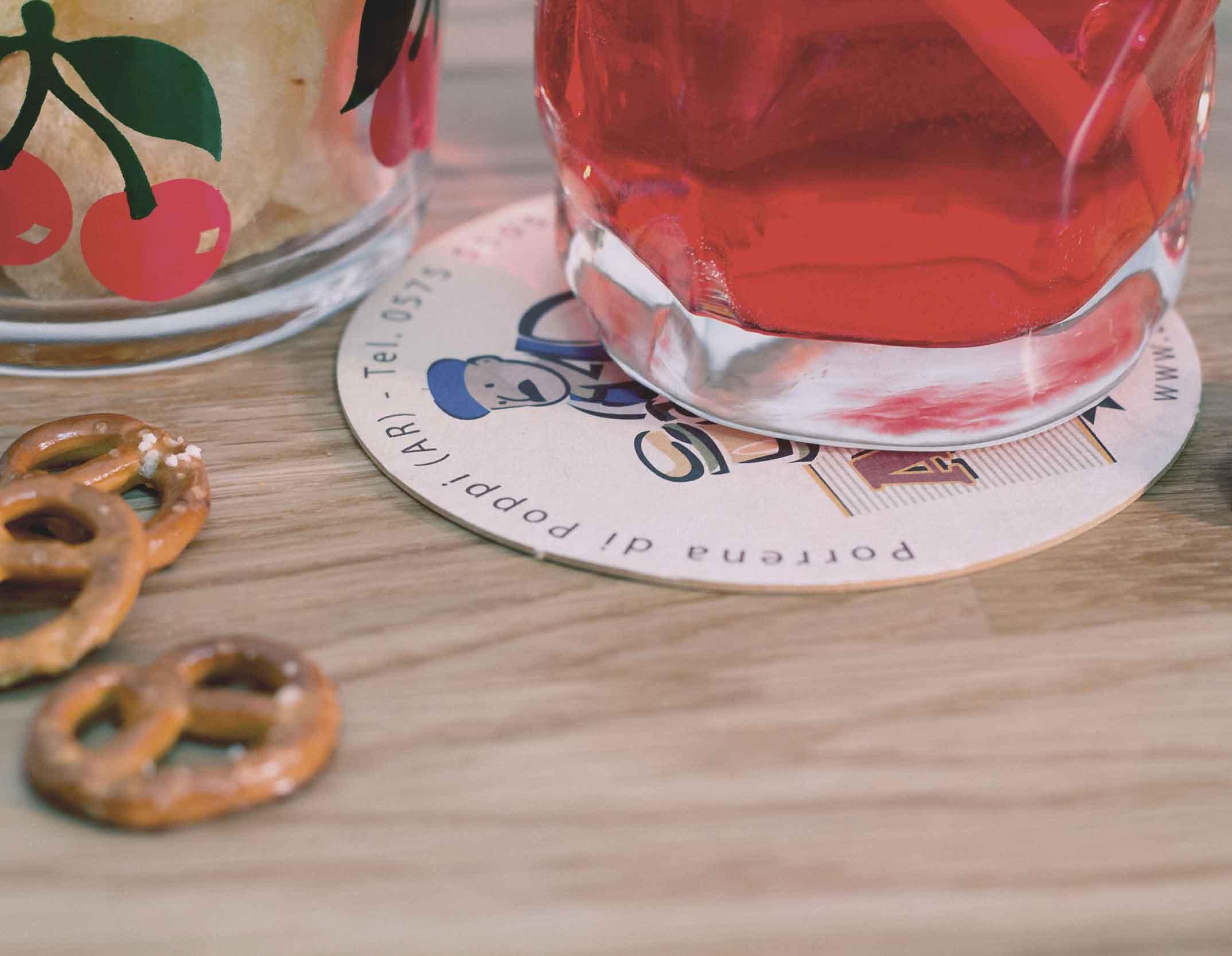 Sotto bicchieri personalizzati con il tuo marchio